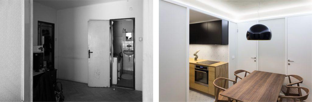 Rekonstrukce bytu ve Vysočanech archizoom