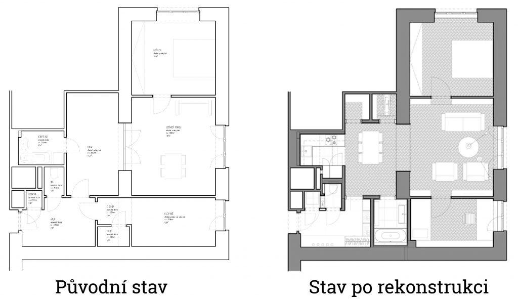 rekonstrukce bytu vysočany archizoom